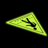 glow in the dark floor signs