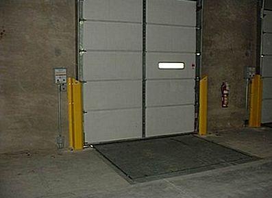 warehouse door track protectors