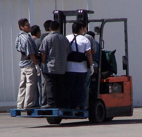 how not to use a forklift