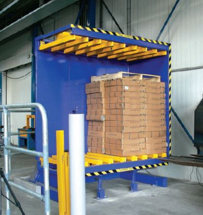 palletless load inverting