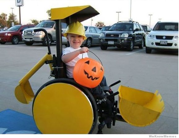 Forklift wheelchair halloween costume