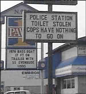 Ridiculous Signs Police Toilet