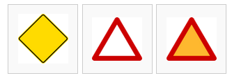 warning sign shape colors